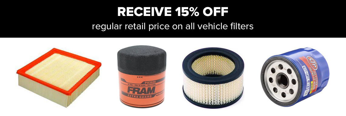 savings on all filters